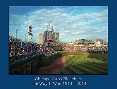 Digital Art - The Way It Was  Chicago Cubs Bleachers Textured by Thomas Woolworth
