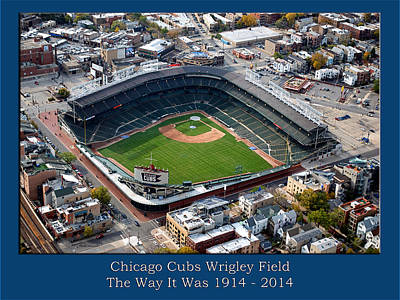 Wrigley Field Digital Art - The Way It Was Chicago Cubs Wrigley Field 01 by Thomas Woolworth