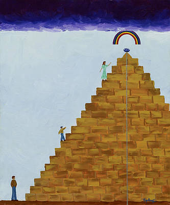 Painting - The Way To Fulfillment by Pat Heydlauff