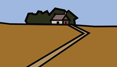 The Way To Sarah's House Art Print by Kenneth North