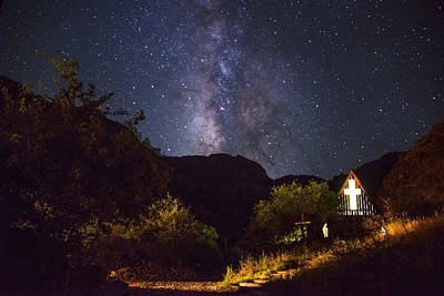 Starry Photograph - Way To The Chapel by Aaron Bedell