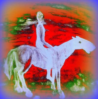 Laugh Painting - You Ride The Way You Ride But Where   by Hilde Widerberg