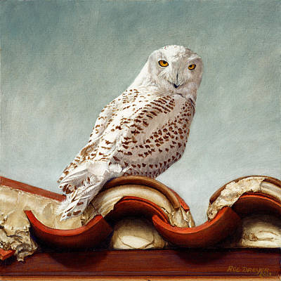 Colored Owl Painting - The Wayward Traveler by Dreyer Wildlife Print Collections