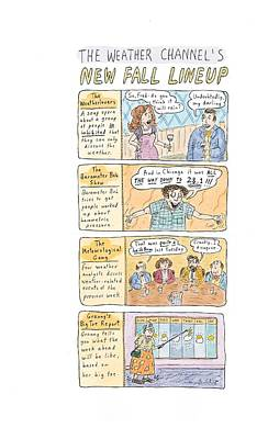 The Weather Channel Fall Lineup Art Print by Roz Chast