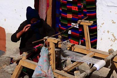 Kali Photograph - The Weaver - Jomsom - Nepal by Aidan Moran