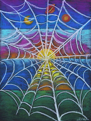 Pastel - The Web Of Life by Diana Haronis