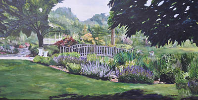 The Wedding Bridge Art Print by Dottie Branchreeves