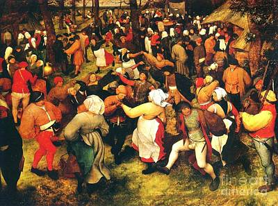 The Wedding Dance In Open Air Print by Pg Reproductions