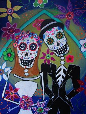 Painting - The Wedding Dia De Los Muertos by Pristine Cartera Turkus