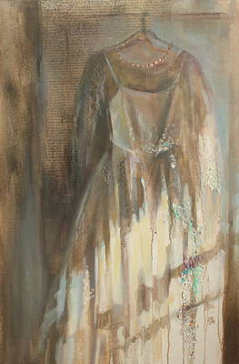 Painting - The Wedding Dress by Susan Bradbury