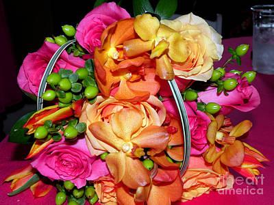 The Wedding Flowers Art Print by Kathy  White