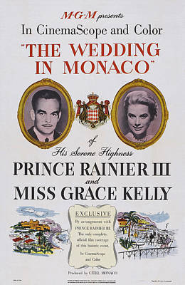 The Wedding In Monaco, Us Poster Art Art Print by Everett