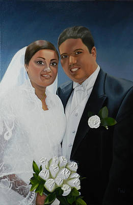 Painting - The Wedding by Leana De Villiers