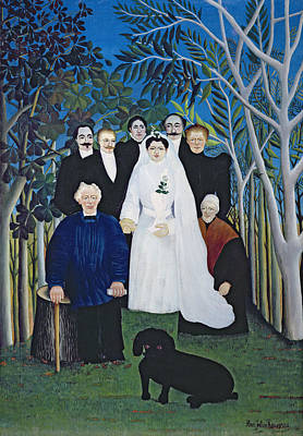 Impressionist Photograph - The Wedding Party, C.1905 Oil On Canvas by Henri J.F. Rousseau