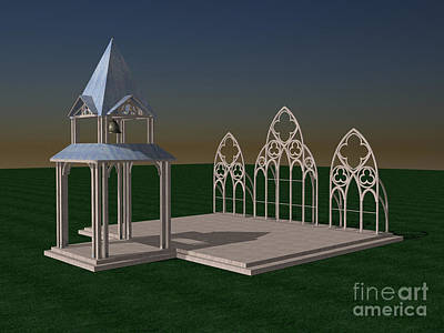 Digital Art - The Wedding Place Wip by Peter Piatt