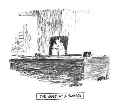 'the Week At A Glance' Art Print