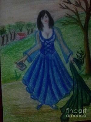 Syeda Ishrat Painting - The Weeping Princess by Syeda Ishrat