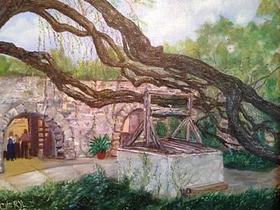 Boon Painting - The Well At The Alamo by Cheryl Damschen