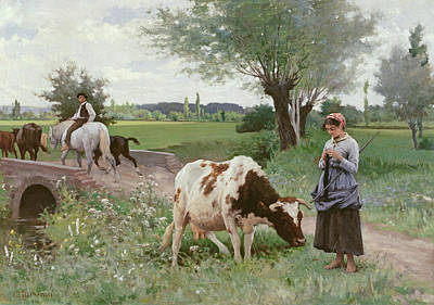 The Well Kept Cow Art Print