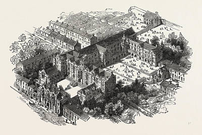 Wesleyan Drawing - The Wesleyan Normal College, Westminster by English School