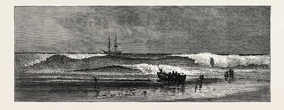 Ghana Drawing - The West Coast Of Africa The Ashantee War Landing by African School