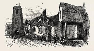 The West Gate, Warwick, Uk Print by English School