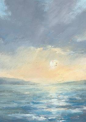 Painting - The Western Solent Part Eight by Alan Daysh
