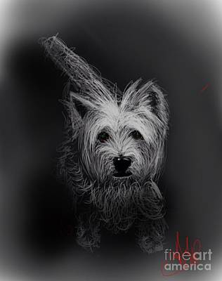 Scottish Dog Mixed Media - 'the Westie 1 by Audrey Hynd-Gaw