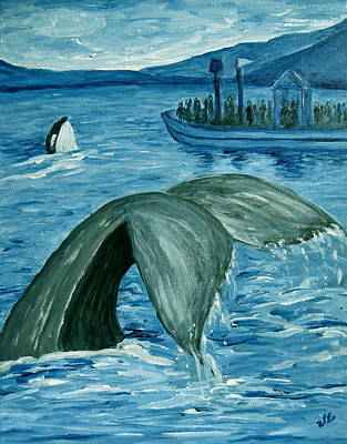Painting - The Whale Watchers by Victoria Lakes
