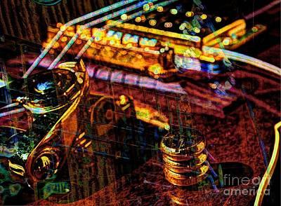 The Whammy Digital Guitar Art By Steven Langston Art Print by Steven Lebron Langston