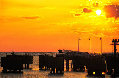 Photograph - The Wharf At Sunrise 1 by Jeremy Herman
