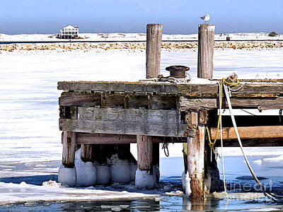 Photograph - The Wharf Wore Snow Boots by Janice Drew