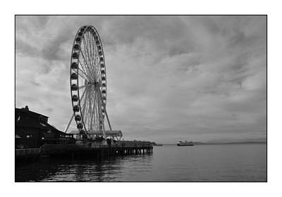The Wheel And The Ferry Art Print by Kirt Tisdale