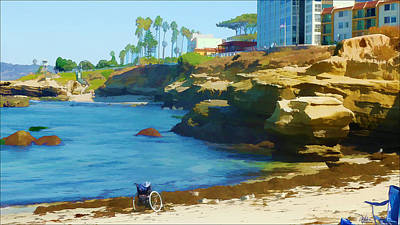 Scuba Painting - The Wheel Chair Scuba Diver by Douglas MooreZart