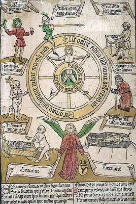 Que Photograph - The Wheel Of Fortune,15th Century Artwork by British Library