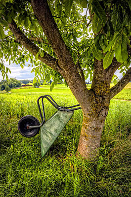Photograph - The Wheelbarrow by Debra and Dave Vanderlaan