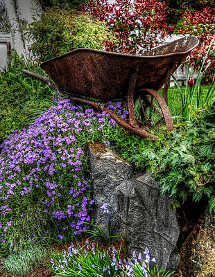 Print featuring the photograph The Whimsical Wheelbarrow by Thom Zehrfeld