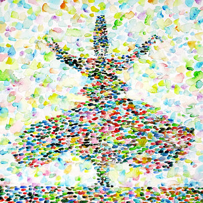 Dervish Painting - The Whirling Sufi by Fabrizio Cassetta