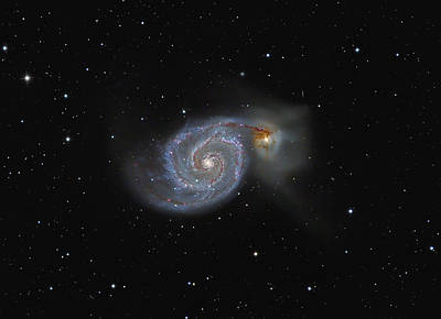 The Whirlpool Galaxy Art Print by Brian Peterson