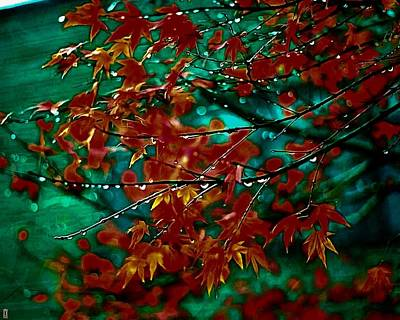 Digital Manipulation Painting - The Whispering Leaves Of Autumn by Mario Carini