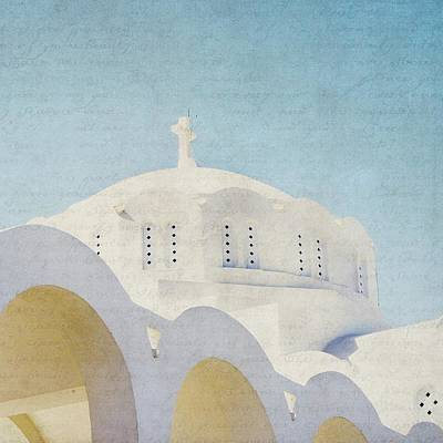 Photograph - The White Arches - Santorini by Lisa Parrish