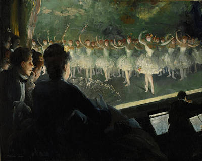 Orchestra Pit Painting - The White Ballet 1904 by Mountain Dreams