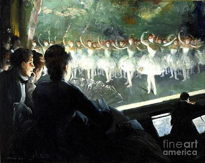 Ballet Painting - The White Ballet by Pg Reproductions