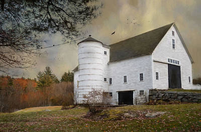 Photograph - The White Barn by Robin-Lee Vieira