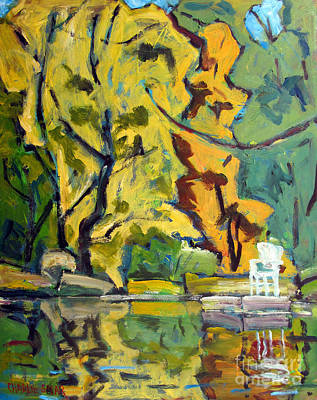 Waterscape Painting - The White Chair by Charlie Spear