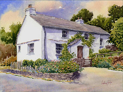 The White Cottage Art Print by Anthony Forster