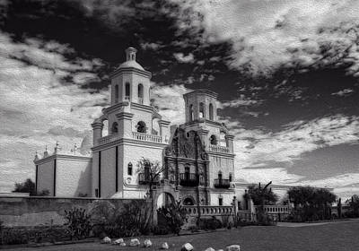 Photograph - The White Dove Mission by Sandra Selle Rodriguez