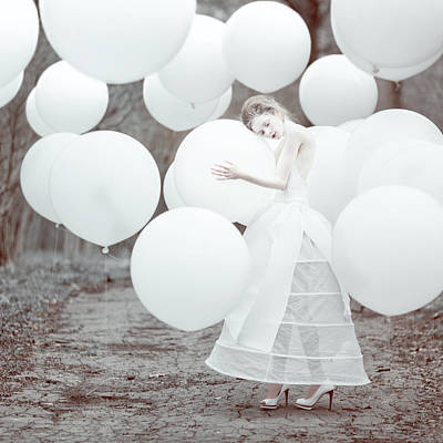 Balloons Photograph - The White Dream by Anka Zhuravleva
