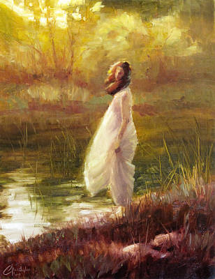 Clarks Hill Lake Painting - The White Dress by Christopher Clark