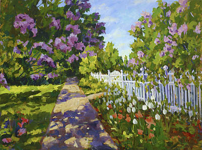 Painting - The White Fence by Ingrid Dohm